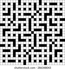 Large scale square crossword puzzle