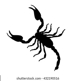 Large Scorpion Silhouette Vector Illustration EPS10