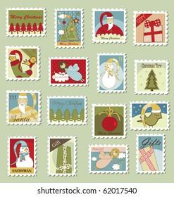 Large Set of Christmas Postage stamps
