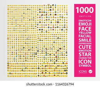 Large set of emoji,emoticons