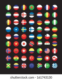 large set of flag icons