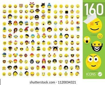 Large set of Quality Emoticons Set of Emoji