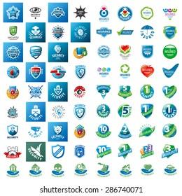 large set of vector logos security guarantees and insurance