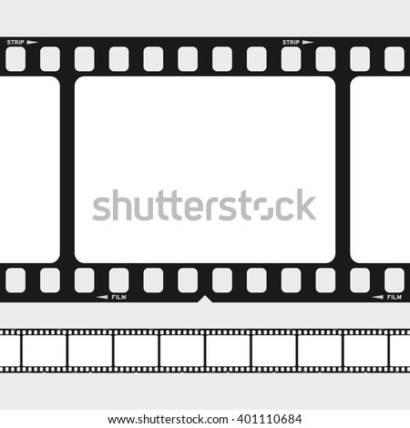 Large Small 35 Mm Black White Stock Vector (Royalty Free) 401110684 ...