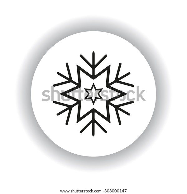 large  snowflake. icon. vector design