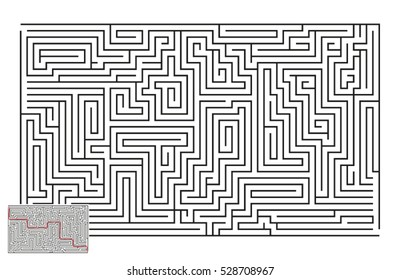 Large Vector Horizontal Maze with Answer 32