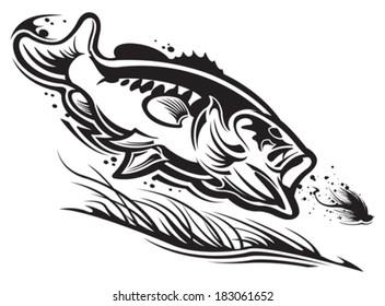 Bass fishing Largemouth bass Clip art - Angeln png herunterladen - 1000*445  - Kostenlos transparent Weiß png Herunterladen.