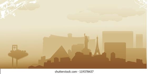 las vegas abstract skyline