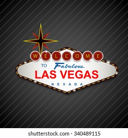 Las Vegas Casino Sign background .Vector
