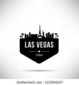 Las Vegas City Modern Skyline Vector Template