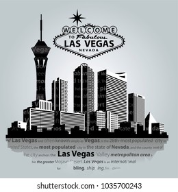Las Vegas City vector skyline