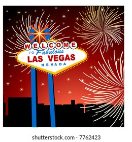 las vegas fireworks