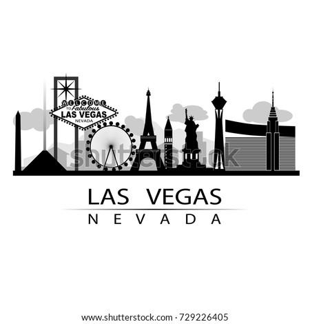 Las Vegas Iconic On Strip City Stock Vector Royalty Free 729226405