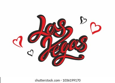 las Vegas. Lettering.Travel. The design concept for the tourism industry. Vector illustration.