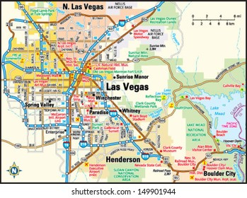 Las Vegas Map Images, Stock Photos & Vectors | Shutterstock on