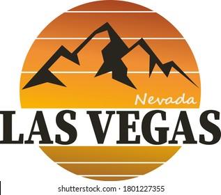 Las Vegas Nevada. Mountains Peaks, Outdoor hill tops.