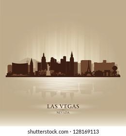 Las Vegas, Nevada skyline city silhouette