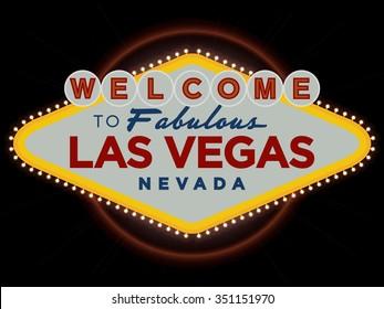 Las Vegas Nevada USA greeting sign vector design
