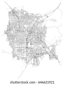 Las Vegas, Nevada (USA) streets vector map