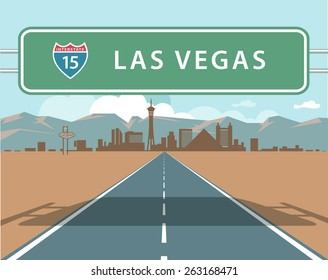 Las Vegas road sign