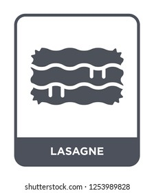 lasagne icon vector on white background, lasagne trendy filled icons from Gastronomy collection, lasagne simple element illustration