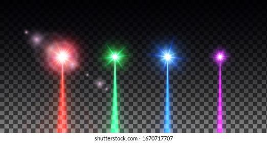 laser beam set. vector illustration
