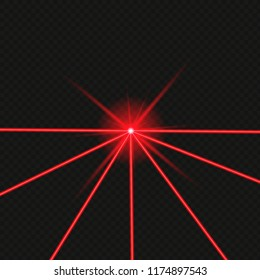 Laser beams isolated on transparent background. Vector illustration