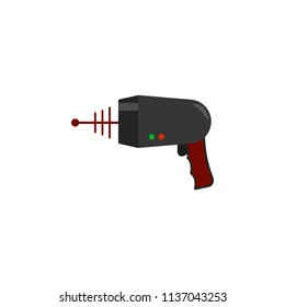 laser blaster colored icon. Element of UFO icon for mobile concept and web apps. Colored laser blaster icon can be used for web and mobile. Premium icon on white background