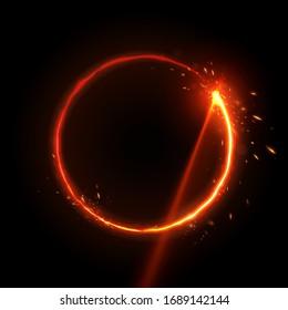 Laser circle burn effect background