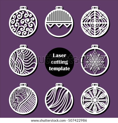 laser cut christmas decoration vector design merry christmas decoration for xmas tree x