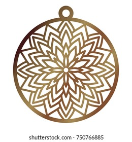 Laser cut openwork christmas decoration vector design. Laser cutting template for xmas tree. Merry Christmas decoration symbol for paper cutting, wood carving and christmas decorations.