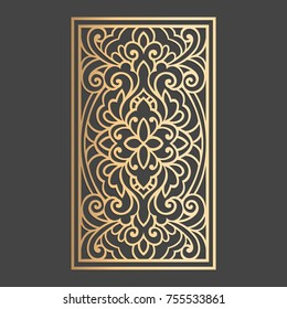 Laser cut panel. Screen design. Vector model for stained glass. Furniture, window decor.