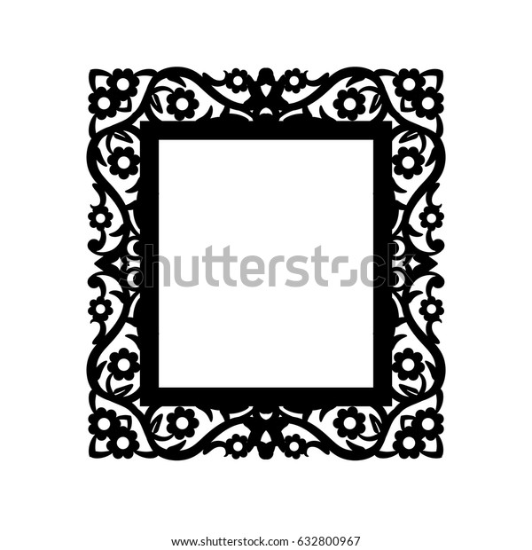 Laser Cut Photo Frame Vector Geometric Stock Vector (Royalty