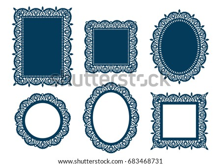 d8273aaf44cc Laser Cut Template Collection Set Abstract Stock Vector (Royalty ...