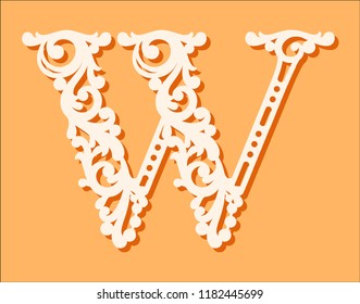 laser cut template initial monogram letters stock vector royalty