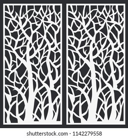 Laser Cut Template Tree CNC Panels