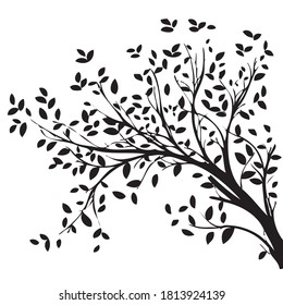 Laser cut tree design with white color Background