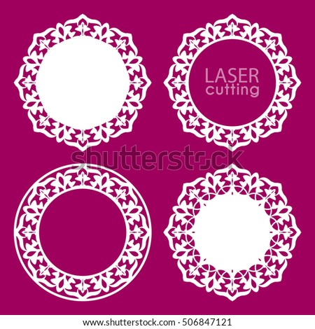 896401c7f27f Laser cut vector frame collection. Set of abstract frames with swirls