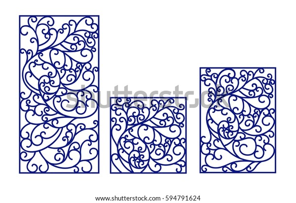 Laser Cut Vector Panel Cutting Paper Stock Vector (Royalty Free