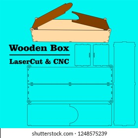 Laser cutting box. without using glue. for wood 3 mm