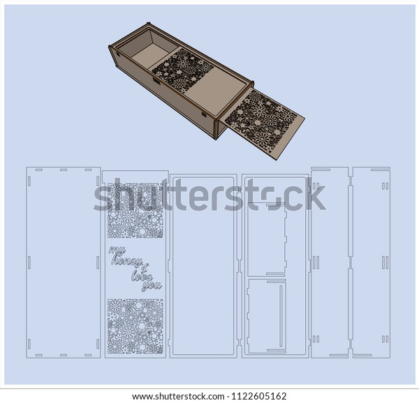Laser Cutting Box Without Using Glue Stock Vector Royalty