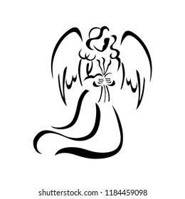 Black White Angel Clip Art Hd Stock Images Shutterstock