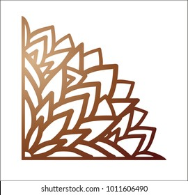 846209e4a5 Laser cutting corner. Vector template for paper cutting, metal and woodcut.  Tapestry panel