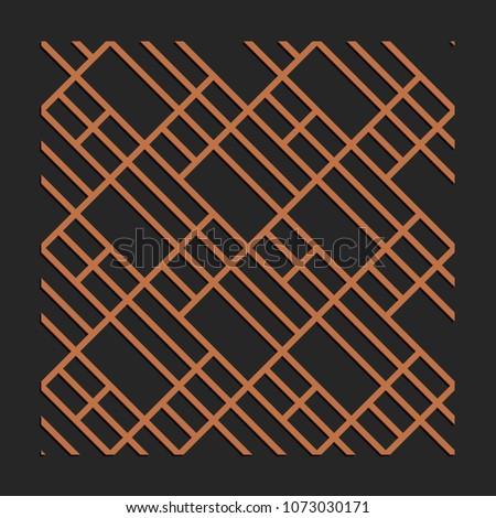 Laser Cutting Interior Panel Woodcut Vector Stock Vector (Royalty
