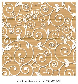 Laser cutting of stencils for decorative art. Background template for cards, invitations and presentations. Flower pattern illustration