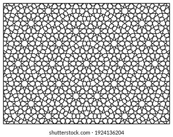 Laser Cutting Template. Decorative Panel. Middle Eastern Geometric Pattern.