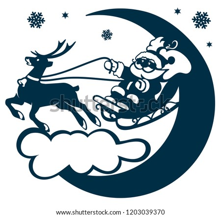 Laser Cutting Template Santa Claus Silhouette Stock Vector Royalty