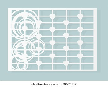Laser and Die cut card vector. May be used for paper cutting pattern.