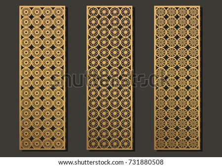 ec89c399293 Laser Engraving Panels Set Contemporary Geometric Stock Vector ...
