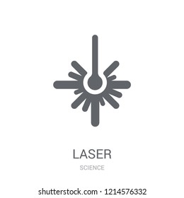 Laser icon. Trendy Laser logo concept on white background from Science collection. Suitable for use on web apps, mobile apps and print media.